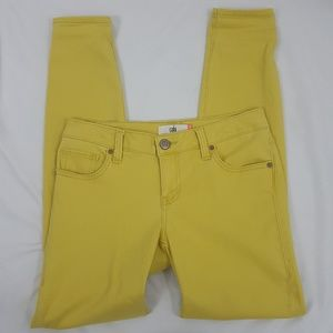Cabi yellow skinny Jeans Sz 4